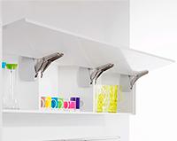 Мебельная фурнитура: поворотный подъемник FREEFLAP mini / forte KESSEBOHMER